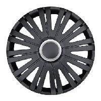 Enjoliveurs 4 Enjoliveurs 15p Texas RC Noir -Black-