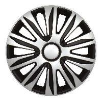 Enjoliveurs Enjoliveurs de roues NARDO SILVER BLACK 15 POUCES