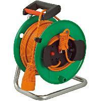 Enrouleur BRENNENSTUHL Enrouleur de cable electrique standard - Garden - 40 m - Vert-Orange