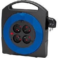 Enrouleur BRENNENSTUHL Enrouleur menager 5 m 4 prises Primera-line bleu H05VV-F 3x1 mm2