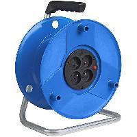 Enrouleur BRENNENSTUHL Enrouleur standard S livré tambour vide capacité 50m. avec fiche 2P 16A/230V. bleu de fabrication française