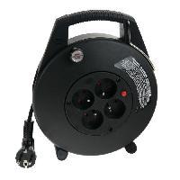 Enrouleur CONFORT-LINE CL-X noir 10m H05VV-F 3G15 Enrouleu