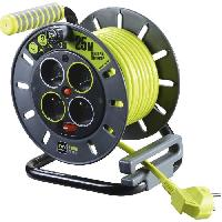 Enrouleur Enrouleur de bricolage 25 m cable H05VV-F 3G1.5 avec disjoncteur thermique