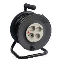 Enrouleur Enrouleur de bricolage 50m 4 prises 16A 3x1.5mm2 avec coupe circuit