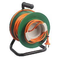 Enrouleur Enrouleur electrique 25m sans prise 2x1.5 mm2 avec pied en metal et coupe circuit