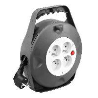 Enrouleur Enrouleur ménager électrique 10 m HO5VVF avec coupe circuit a poignée. et 4 prises 3G1.5 Generique