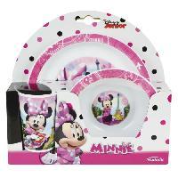 Ensemble - Set Repas Fun House Disney Minnie ensemble repas comprenant 1 assiette. 1 verre et 1 bol pour enfant