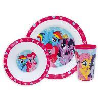 Ensemble - Set Repas Fun House My Little Pony ensemble repas comprenant 1 assiette. 1 verre et 1 bol pour enfant