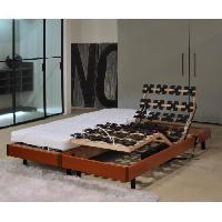 Ensemble Sommier Matelas ALICANTE Ensemble relaxation matelas + sommiers electriques 2 x 80 x 200 cm - Mousse - 14 cm - Ferme