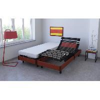 Ensemble Sommier Matelas LEON Ensemble relaxation matelas + sommiers electriques 2 x 80 x 200 cm - Mousse - 16 cm - Ferme