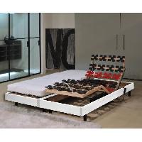 Ensemble Sommier Matelas MURCIE Ensemble matelas + sommiers relaxation 2 x 80 x 200 - Mousse - 13 cm - Ferme - Blanc