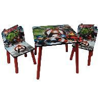 Ensemble Table Et Chaise Bebe AVENGERS Table et 2 chaises enfant en bois MDF - Aucune