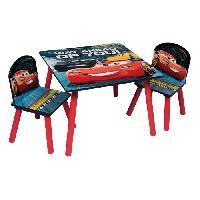 Ensemble Table Et Chaise Bebe CARS 3 Table et 2 chaises enfant en bois MDF - Aucune