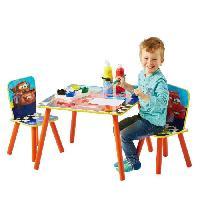 Ensemble Table Et Chaise Bebe CARS Ensemble Table Et 2 Chaises Pour Enfants - Worlds Apart