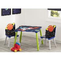 Ensemble Table Et Chaise Bebe DELTAKIDS - GN - Ensemble Table et 2 Chaises Bois Enfant - Astronaute - Aucune