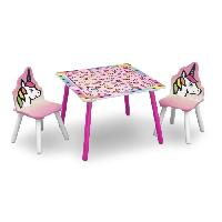 Ensemble Table Et Chaise Bebe DELTAKIDS - GN - Ensemble Table et 2 Chaises Bois Enfant - Licorne - Delta Children