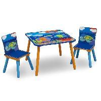 Ensemble Table Et Chaise Bebe DELTAKIDS - GN - Ensemble Table et 2 Chaises Bois Enfant - Ocean