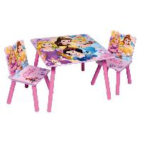 Ensemble Table Et Chaise Bebe DISNEY PRINCESSE Table et 2 chaises enfant en bois MDF