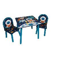 Ensemble Table Et Chaise Bebe ESPACE Table et 2 chaises en bois pour enfant MDF