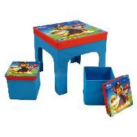 Ensemble Table Et Chaise Bebe Fun House Pat Patrouille ensemble table+2 tabourets de rangement pliables pour enfant