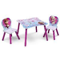 Ensemble Table Et Chaise Bebe LA REINE DES NEIGES Table enfant et 2 chaises enfant en bois - Delta Children
