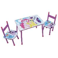 Ensemble Table Et Chaise Bebe MY LITTLE PONEY Ensemble Table + 2 Chaises