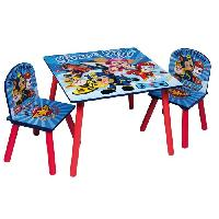 Ensemble Table Et Chaise Bebe PAT PATROUILLE Table et 2 chaises enfant en bois MDF