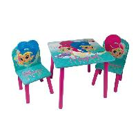 Ensemble Table Et Chaise Bebe SHIMMER et SHINE Table et 2 chaises enfant en bois MDF