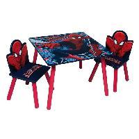 Ensemble Table Et Chaise Bebe SPIDERMAN Table et 2 chaises enfant en bois MDF