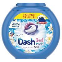 Entretien Du Linge DASH Lessive en capsules 3 en 1 Pods Fleur de Lotus - 47 lavages Dash 2 En 1