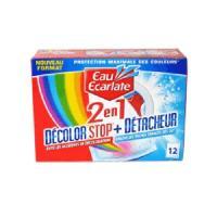 Entretien Du Linge EAU ECARLATE Décolor stop + détacheur 2 en 1 - 12 sachets