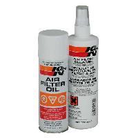 Entretien Filtres Kit de Nettoyage Filtres Air 99-5000 - Nettoyant 350ml Huile 180ml -> 99-5003EU - K&N