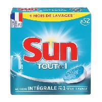 Entretien Lave-vaisselle - Desodorisant Lave-vaisselle SUN Tablettes lave-vaisselle - Lot de 52