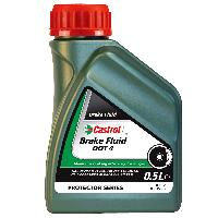 Entretien moteur et traitement essence Liquide de frein Castrol DOT 4 0.5L - ADNAuto
