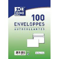 Enveloppe 100 enveloppes autocollantes - 16.2 cm x 11.4 cm x 5 cm - Blanc