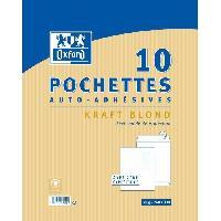 Enveloppe 10 Pochettes auto-adhesives kraft - 33 cm x 26 cm x 0.5 cm