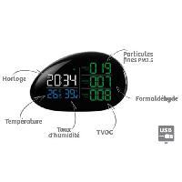 Environnement (qualite De L'air - Deperdition De Chaleur - Mesure Thermique - Hygrometre) ORIUM Mesureur analyseur qualite de l'air Complet Galet - Reference 23623