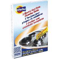 Eponge - Carre Vaisselle - Tampon A Recurer - Brosse Vaisselle DELU 3 chiffons nettoyeurs pour l'entretien des plaques électriques - 24 x 9 cm