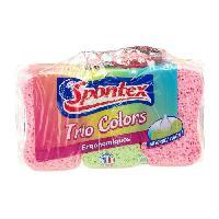 Eponge - Carre Vaisselle - Tampon A Recurer - Brosse Vaisselle SPONTEX Trio colors - x6