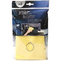 Eponge - Peau De Chamois - Microfibre - Chiffon Carres Doux Chamoisine Coton x2