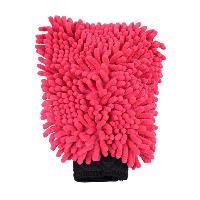 Eponges et Gants Gant de lavage en microfibre rouge
