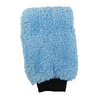Eponges et Gants Gant de lavage microfibre - Bleu