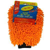 Eponges et Gants Gant de lavage microfibre double face - Orange
