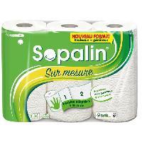 Essuie-tout - Essuie Mains Jetable SOPALIN ESSUIE-TOUT SUR MESURE 3 MAXI = 6 ROULEAUX. 3 MAXI-ROULEAUX