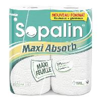 Essuie-tout - Essuie Mains Jetable SOPALIN Maxi Absorb 2 = 4