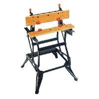 Etabli - Systeme Perfo - Armoire - Mobilier Atelier BLACK et DECKER Etabli etau serrage vertical WM550 - Black & Decker