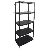 Etabli - Systeme Perfo - Armoire - Mobilier Atelier COGEX Etagere - 5 Plateaux - 71 x 38 x 170 cm - Noir