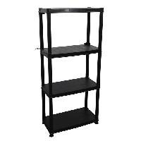 Etabli - Systeme Perfo - Armoire - Mobilier Atelier Etagere - 4 Plateaux - 61 x 30.5 x 130 cm - Noir