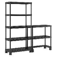 Etabli - Systeme Perfo - Armoire - Mobilier Atelier Etagere de rangement Open Base Maxi - 180 x 45 x 182 270 x 45 x 138 270 x 45 x 97 cm - Noir