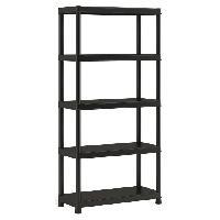 Etabli - Systeme Perfo - Armoire - Mobilier Atelier Etagere de rangement Plus 90 40 5 - 90 x 40 x 182 cm - Noir